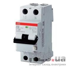 Диференційний автоматичний вимикач DS201 C25-30MA/AC 25А 30мА ABB