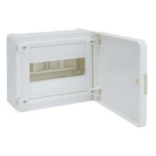 Бокс VS108PD, 8 модулів, зовнішній, біла дверка, GOLF Hager