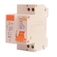 Диференціальний автоматичний вимикач ДВ 20А 30мА 1+N п. EcoHome