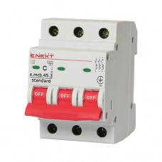 Автоматичний вимикач e.mcb.stand.45.3.C3 3p E.next