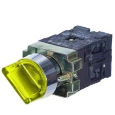 Перемикач XB2-BK2565 1NO+1NC 2-позиційний поворотний жовтий з підсвіткою АскоУкрем