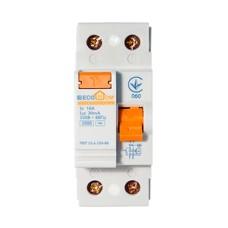 Пристрій захисного відключення ПЗВ 1+Нп/16А/30мА  EcoHome