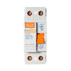 Пристрій захисного відключення ПЗВ 1+Нп/25А/30мА  EcoHome