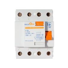 Пристрій захисного відключення ПЗВ 3+Нп/32А/30мА  EcoHome