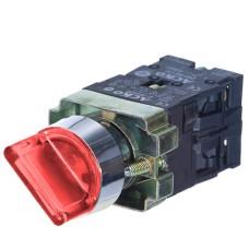 Перемикач XB2-BK2465 1NO+1NC 2-позиційний поворотний червоний з підсвіткою АскоУкрем