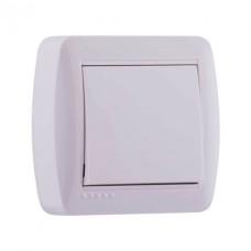 Вимикач 1кл наклад білий DEMET Lezard 711-0200-100