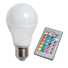 Лампа світлодіодна 5W E27 RGB 350Lm з пультом LM734 Lemanso