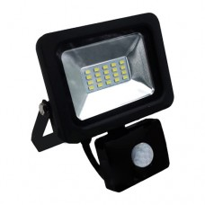 Прожектор LED 10Вт + датчик руху 6500K  IP65 LMPS12 Lemanso