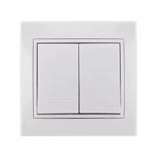 Вимикач 2кл білий MIRA Lezard 701-0202-101