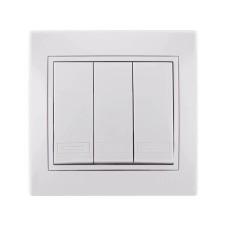 Вимикач 3кл білий MIRA Lezard 701-0202-109