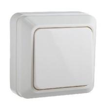 Вимикач накладний одноклавішний  білий ВЗ10-1-0-CT-W АскоУкрем