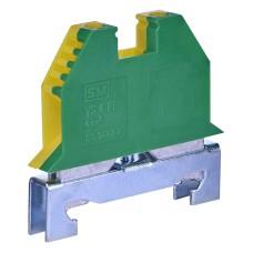 Клема набірна на DIN-рейку (жовто-зелена) VS -4 PE ETI