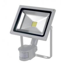 Прожектор LED 20Вт+датчик руху  6500K IP65 сірий LMPS24 Lemanso