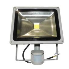 Прожектор LED 30Вт + датчик руху 6500K IP65 LMPS30 Lemanso