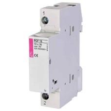 Роз'єднувач для запобіжників 10x38 на DIN-рейку PCF 8 1p+N ETI