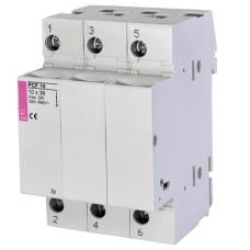 Роз'єднувач для запобіжників 10x38 на DIN-рейку PCF 10 3p ETI