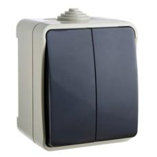 Вимикач накладний одноклавішний білий  В310-1-ІР54 АскоУкрем
