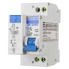 Диференціальний автоматичний вимикач ДВ-2002 16А 10мА 1+Нп. АскоУкрем
