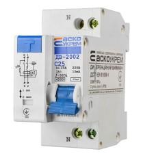 Диференціальний автоматичний вимикач ДВ-2002 25А 10мА 1+Нп. АскоУкрем