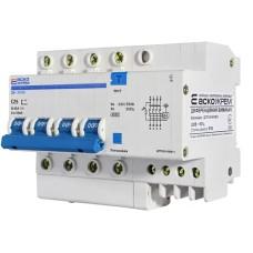 Диференціальний автоматичний вимикач ДВ-2006 25А 30мА 3+Нп. АскоУкрем