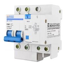 Диференціальний автоматичний вимикач ДВ-2006 40А 30мА 1+Нп. АскоУкрем