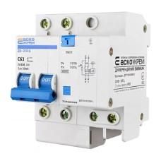Диференціальний автоматичний вимикач ДВ-2006 63А 30мА 1+Нп. АскоУкрем