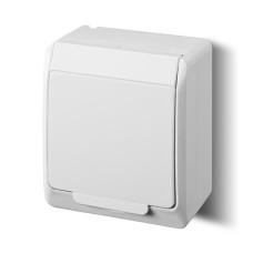 Розетка з кришкою Elektro-Plast Hermes IP44 з з/к 16А біла (0324-02)