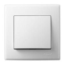 Вимикач 1-клавішний білий LESYA Lezard (705-0202-100)