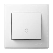 1-клавішний вимикач прохідний Lezard LESYA 10A Білий (705-0202-105)