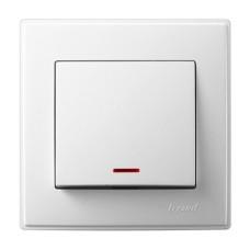 1-клавішний вимикач Lezard LESYA з підсвіткою Білий (705-0202-111)