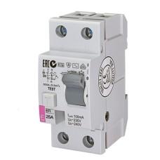 Пристрій захисного відімкнення EFI6-2 2п 25А 30мА ETI