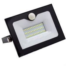 Прожектор LED 20Вт з датчиком руху 6500K  IP65 LMPS25 Lemanso