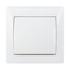 Вимикач одноклавішний білий  ВВ10-1-0-FR-W АскоУкрем