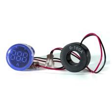 Амперметр цифровий ED16-22 АD  синій 0-100 А  АскоУкрем