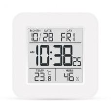 Термо-гігрометр цифрвий з годинником Т-19 Склоприлад