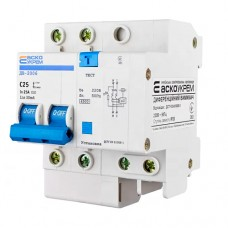 Диференціальний автоматичний вимикач ДВ-2006 25А 30мА  АскоУкрем