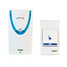 Безпровідний дверний дзвінок Feron E-222 біло-синій 32 мелодії (3670)
