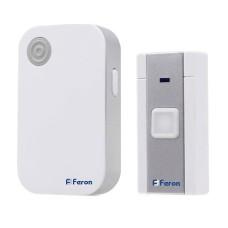Безпровідний дверний дзвінок Feron E-372 біло-синій 36 мелодій (6205)