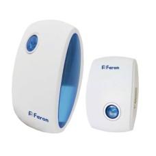 Безпровідний дверний дзвінок Feron E-376 бело-синий 36 мелодій (6208)