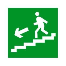 Знак Евакуація по сходах ліворуч 100х100
