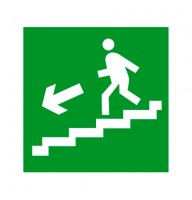 Знак Евакуація по сходах ліворуч 150х150