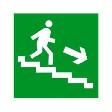 Знак Евакуація по сходах праворуч 100х100