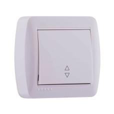 1-клавішний вимикач прохідний Lezard DEMET 10A Білий (711-0200-105)