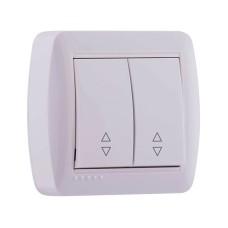 2-клавішний вимикач прохідний Lezard DEMET 10A Білий (711-0200-106)