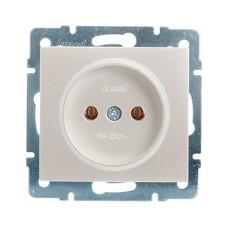 Розетка без заземлення ПБТ перлинно-білий перламутр RAIN Lezard 703-3088-121B