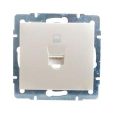 Розетка comp. перлинно-білий перламутр RAIN Lezard 703-3088-139