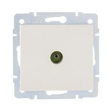 Розетка ТВ кінцева перлинно-білий перламутр RAIN Lezard 703-3088-130