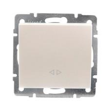 Вимикач проміжний перлинно-білий перламутр RAIN Lezard 703-3088-107