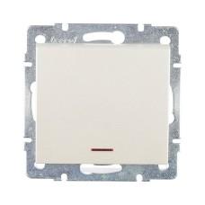Вимикач з підсвіткою перлинно-білий перламутр RAIN Lezard 703-3088-111