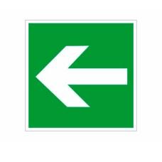 Знак Стрілка напрямку на шляхах евакуації вліво 150х150